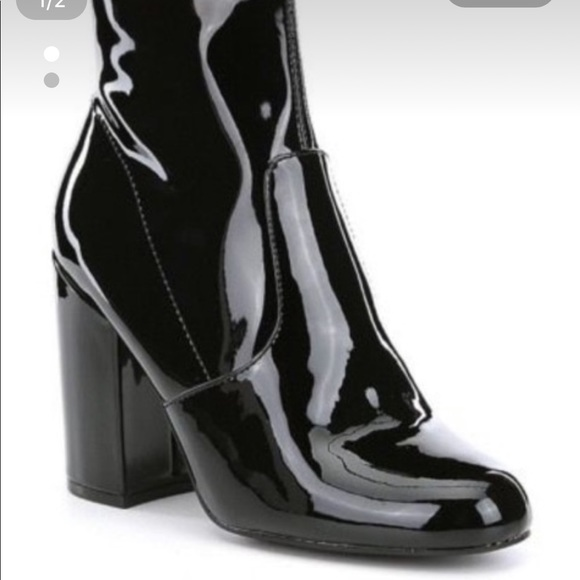 Steve Madden Patent Leather Booties